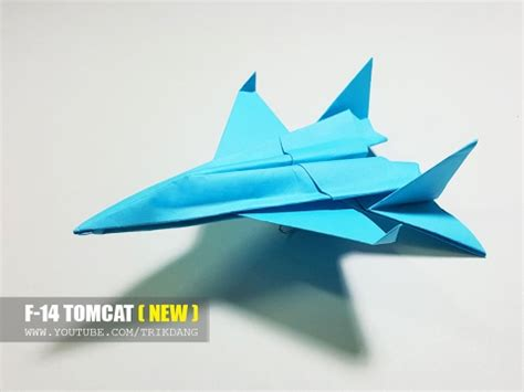origami f 14 cool paper jet fighter how to make a paper airplane