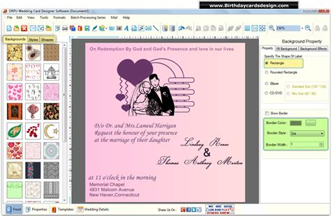 wedding card software wedding card design software create customize marriage