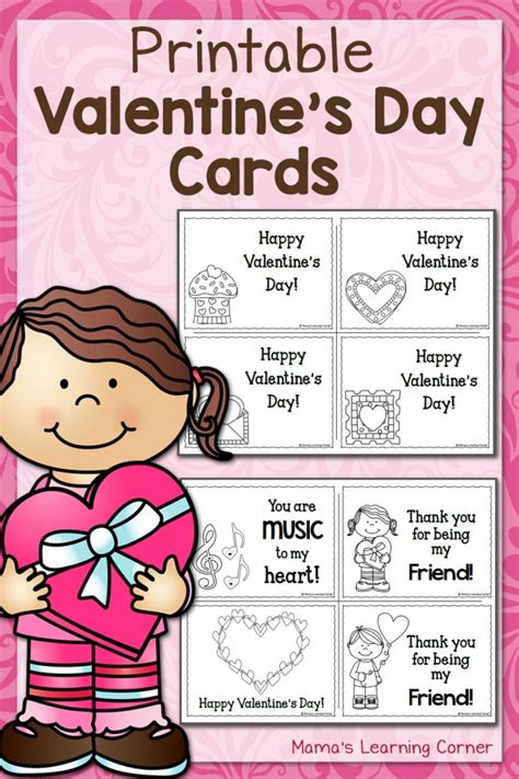 make your own s day card printable s day cards mamas learning corner
