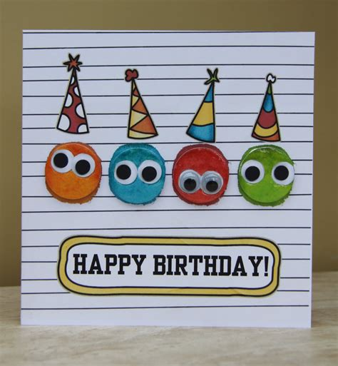 how to make a happy birthday card birthday cards punched the faces out