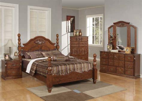 half price bedroom furniture walnut finish bedroom by acme w half post bed options