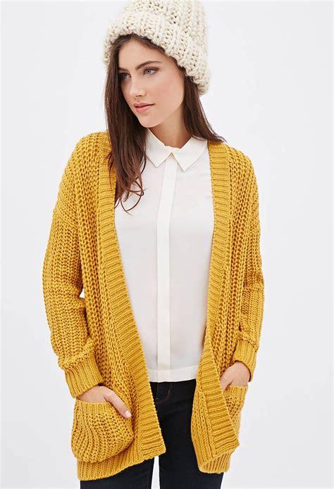 mustard knit sweater mustard purl knit cardigan cardigans medium weight