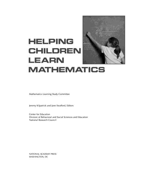 helping children learn mathematics helping children learn mathematics