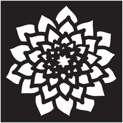 Folkart Small Dahlia Painting Stencil 30927 The Home Depot