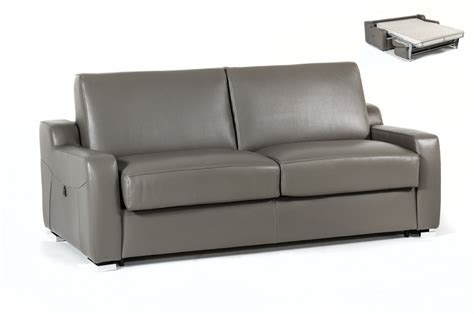 modern leather sofa bed estro salotti dalia modern grey leather sofa bed