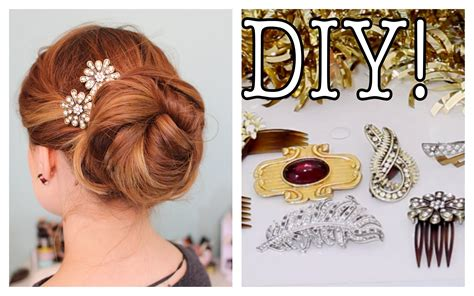 how to make hair jewelry easy diy sparkly statement hair accessories