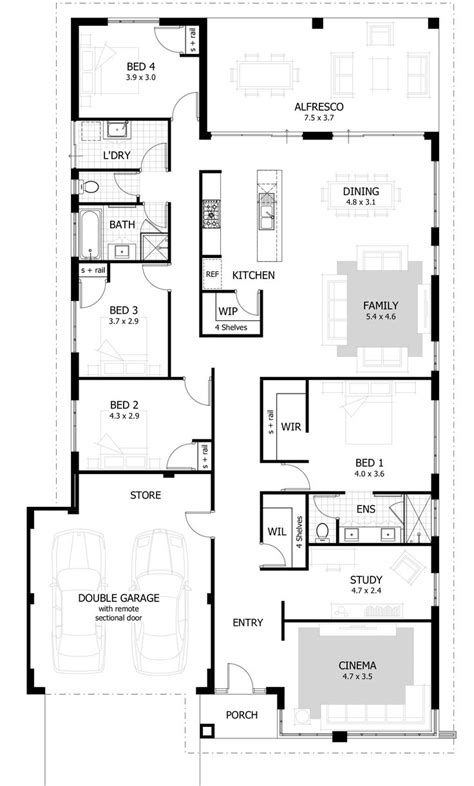 simple 4 bedroom floor plans best 25 4 bedroom house ideas on 4 bedroom