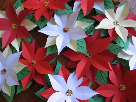 poinsettia paper craft fifi colston creative pretty paper poinsettias