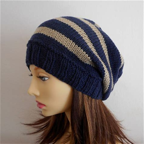 how to knit a beanie with needles ravelry cus striped slouch hat knit pattern