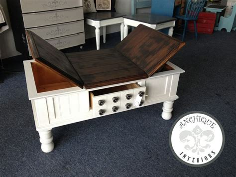 chalk paint table top coffee table with gel stained top java and chalk paint