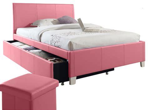 pink upholstered bed standard furniture fantasia upholstered trundle bed in