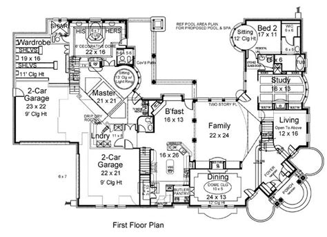 5 bedroom house plans 1 story 5 bedroom house one story open floor plan home deco plans