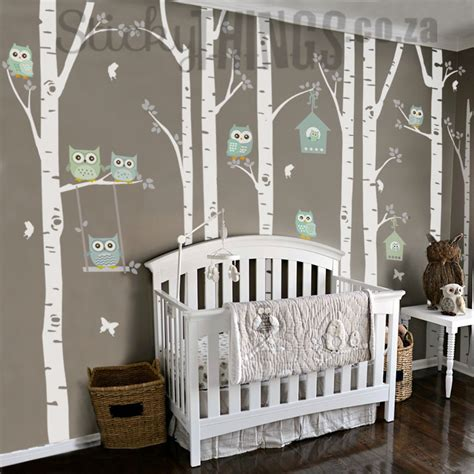 owl wall decals nursery the owl nursery wall vinyl forest owl nursery decals
