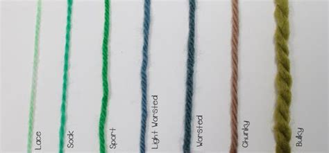 weight yarn picture guide to yarn
