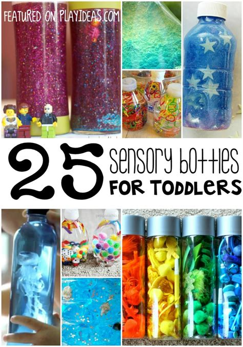sensory crafts for 25 sensory bottles for toddlers play ideas bottle and plays