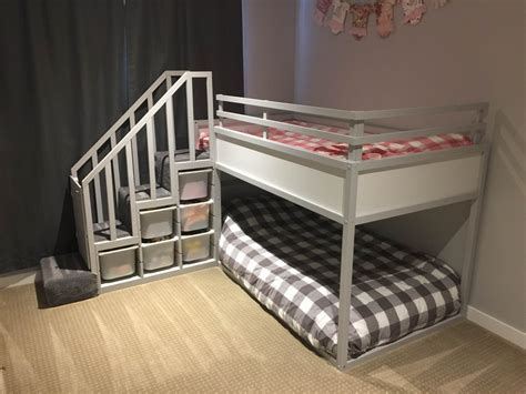 ikea bunk bed for kura bunk bed hack for two toddlers ikea hackers ikea