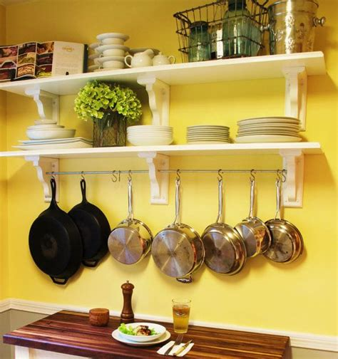 Kitchen Cabinet End Shelf by Best 25 Hanging Pots Kitchen Ideas On Pinterest Hanging