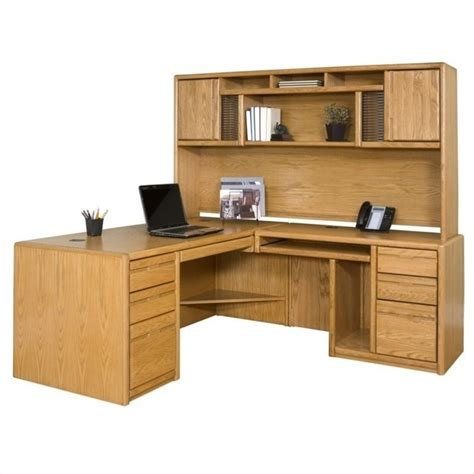 oak office furniture for the home martin furniture cont rhf l shape home office set medium