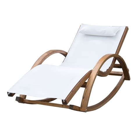 rocking chair garden outsunny garden wooden recliner rocking chair ideal home