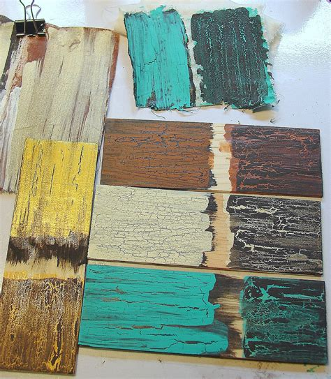 how to distress acrylic paint on canvas how to make a furniture in rustic style with crackles my