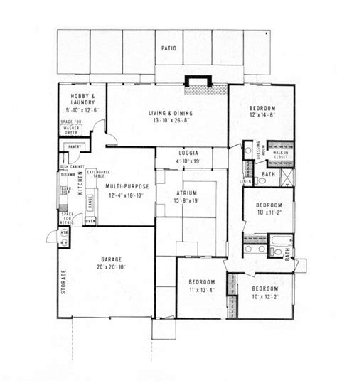 house plans atrium greenhouse