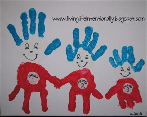 family crafts thing 1 2 3 handprint family crafts