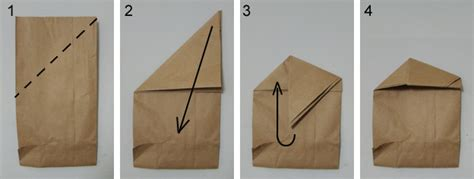 origami bags with paper brown paper bag fold