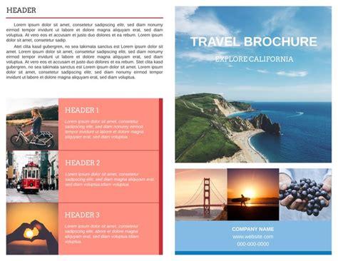 free travel brochure templates exles 8 free templates