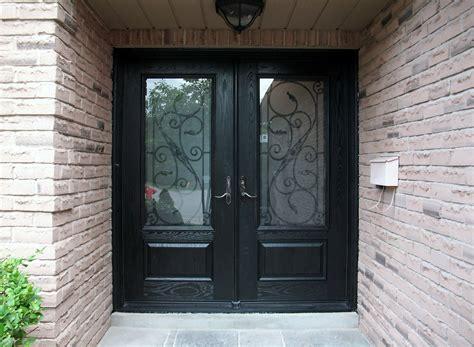 fiberglass front doors for homes fiberglass exterior doors wrought iron decor and