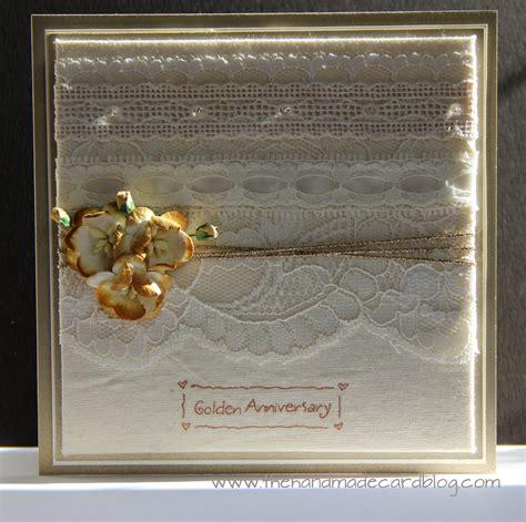 golden wedding cards to make 50th wedding anniversary card the handmade card