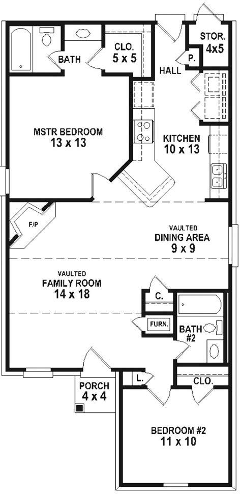 simple 2 bedroom house floor plans 654334 simple 2 bedroom 2 bath house plan house plans