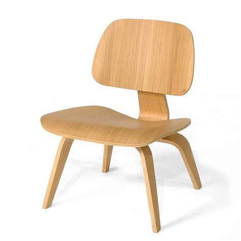 Eames Molded Plywood Chairs by Ash Wood Eames Style Molded Plywood Lounge Chair Mid