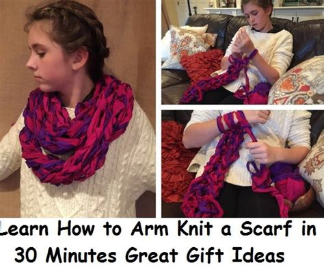 how to arm knit a scarf 17 best images about knitting patterns on