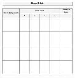 blank rubric template rubric template free amp premium