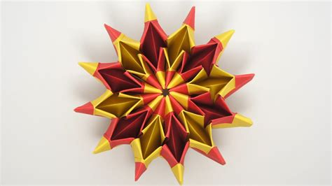 Origami On Psychedelic Trippy And Fireworks