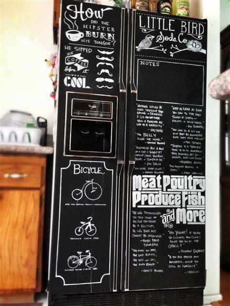 chalkboard painting refrigerator chalkboard paint chalk markers refrigerator