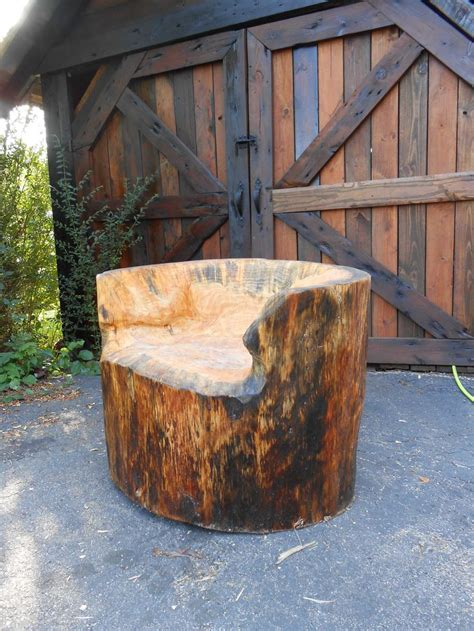 Stump Chair by Stump Chair Tree Stump Projects Pinterest