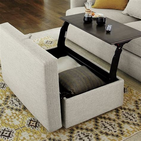 storage ottoman coffee table with trays 1000 ideas about ottoman with storage on