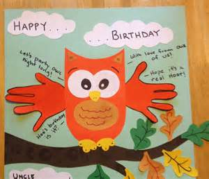 craft ideas for birthday happy birthday card handprint quot with from owl