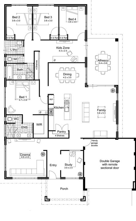 simple open floor plan homes 40 best 2d and 3d floor plan design images on