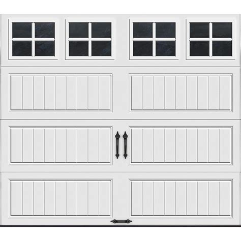garage door at home depot clopay gallery collection 16 ft x 7 ft 6 5 r value