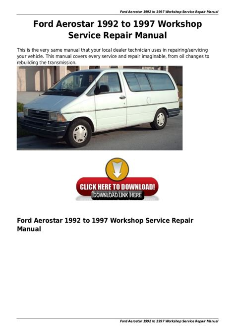 online auto repair manual 1996 toyota tacoma windshield wipe control service manual online auto repair manual 1992 ford aerostar parking system service manual