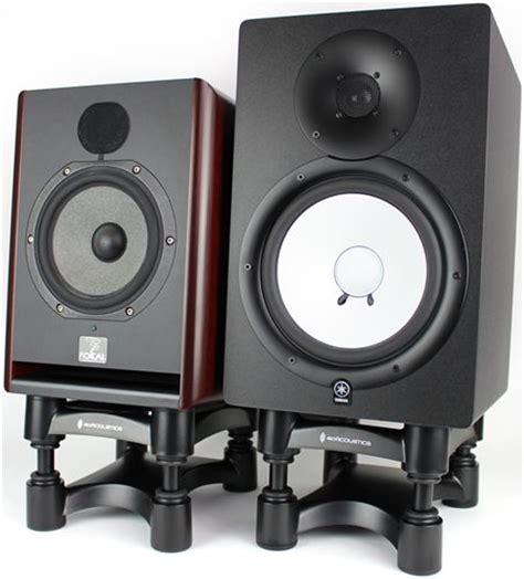 desk top speaker stands isoacoustics isol8r200 desktop adjustable speaker stands