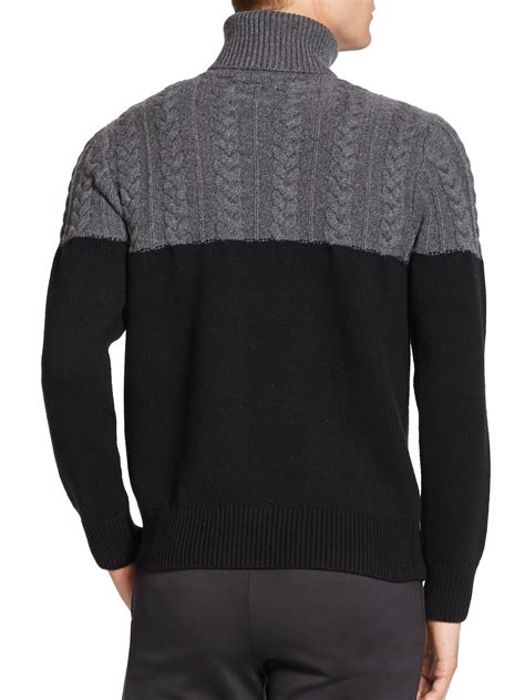 cable knit turtleneck ovadia and sons half cable knit turtleneck sweater in