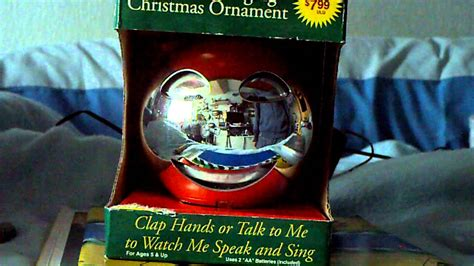 animated singing ornament animated singing ornament