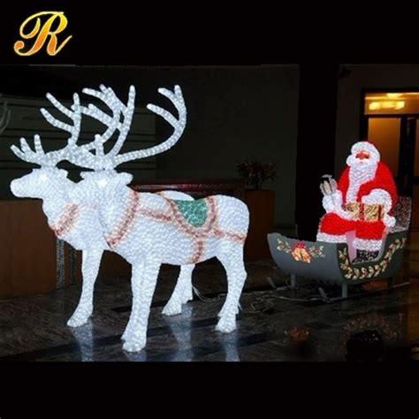 led santa sleigh led lighted santa claus with reindeer sleigh buy santa