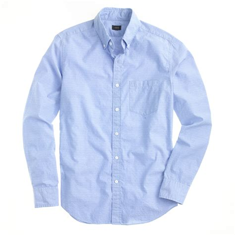 shirts with j crew slim cotton shirt in woven arrows in blue for