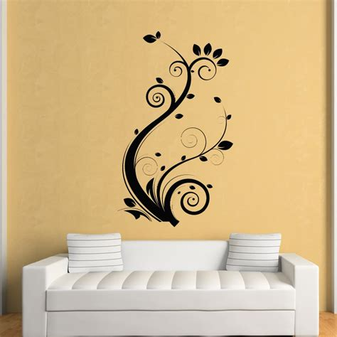 wall transfer stickers floral leaves flowers wall stickers wall decal transfers