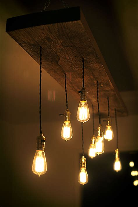 light bulb chandeliers diy reclaimed lumber hanging edison bulb chandelier