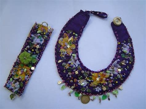 material for jewelry fabric necklace set beadage